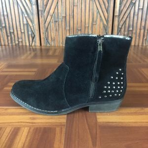 LIMELIGHT Suede Studded Double Zip Ankle Boots